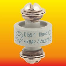 18 pF 3.5 kV 4 kVAr LOT OF 2 HIGH VOLTAGE DOORKNOB CERAMIC CAPACITOR K15Y-1