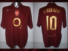 Arsenal BERGKAMP Shirt Jersey football Soccer Nike XL Holland Highbury Ajax Top