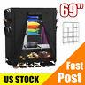"Portable 69"" Clothes Storage Closet Organizer Shelf Wardrobe Rack Shelves Black"