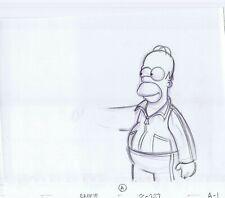 Simpsons Homer Original Art Animation Production Pencils Eabf15 A Sc-227 A-1