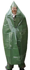 Olive Green Waterproof Poncho Big Sturdy Overall Cover - Unissued German NVA