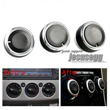 3Pcs Air Condition Panel Control Switch Knob Buttons for Focus 2 MK2 MK3 Mondeo