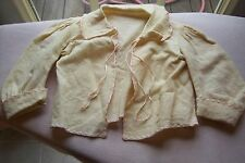 Vtg Antique Baby Doll Bed Jacket Wool Challis Fabric Ribbons Embroidery