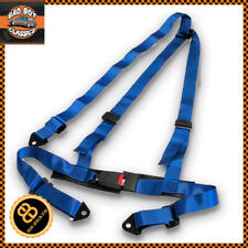 Blue 3 Point Racing Seat Belt Harness Universal Design Car / 4x4 / Offroad