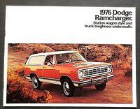 ORIGINAL 1976 DODGE RAMCHARGER BROCHURE w/ SPECS & COLORS~ 8 PAGES ~ DRC76
