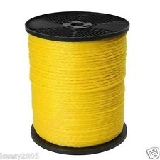 5/16 x 1000 Yellow Hollow Braid Polypropylene Rope