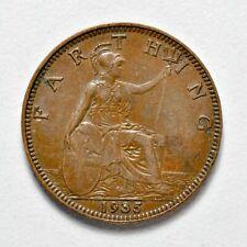 GB GEORGE V FARTHING 1935 ++ SHARP GRADE!! ++ [826-59]