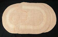 Bath Mat Set House Of Bath 100% Cotton Reversible 2 Piece Peach Machine Washable