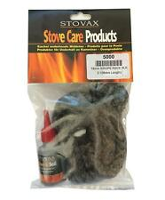 STOVAX - 14mm Soft Black Rope Stove Door Seal Kit - Rope - Glue - End Tape- 5000