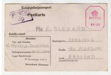 GERMANY: 1944 Censored Kriegsgefangenenpost postcard to England (C48604)