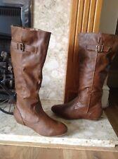 Austin plano de invierno para mujer de cuero de la rodilla Botas altas Zapatos señoras de Equitación Motorista Reino Unido