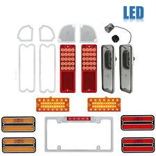 69-70 Chevy GMC Truck LED SEQUENTIAL Tail Marker Park License Light Lenses Set