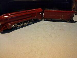 Vintage 1950's Era American Flyer Circus Steam Locomotive & Tender, Running s390