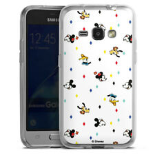 Samsung Galaxy J1 (2016) Silikon Hülle Case Handyhüle - Disney Carnival Pattern