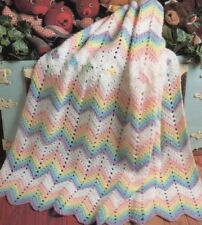 CROCHET Pattern copy Blanket Rug Throw 8 Ply
