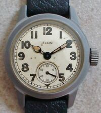 VINTAGE 1940'S ELGIN MILITARY WATCH GOVERNMENT ISSUE VERY GOOD CONDITION