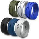 Rinfit Silicone Wedding Ring | Rubber Band For Men - 6 Rings In Pack