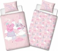 "Peppa Pig NEW ""ONCE UPON A TIME "" Bedding  SINGLE  Duvet Cover Pillow  set"