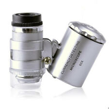 60X Handheld Pocket Microscope Loupe Jeweler Magnifier With LED UV Light Divine