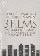 André Gregory  Wallace Shawn: 3 Films ( 5 DVD set, 2015,, Criterion Collection)