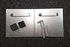 verdeckte Spiegelhalterung, Spiegelaufhängung bis 0,8qm mit Abstandhalter