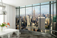 Wall mural wallpaper 315x232cm New York Penthouse - view from window decor paper