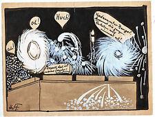 Originalzeichnung Hans Steiner Karikatur 20/ 30er Jahre Simpliccisimus Feuerwerk