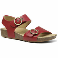 Hotter Women's Tourist Wide Fit Cork Sandal Leather Buckle Fastening Adult