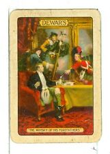 "Single Vintage Wide Playing Card, ""The Whisky of his Forefathers"" DeWar's #2"