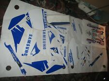 yamaha yzf 450 graphic kit and seat cover samsung race team 2010 2012