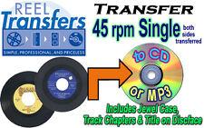 REEL TRANSFERS - convert 45rpm single record to CD/MP3