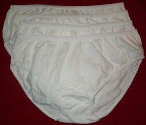 4 Pair 100% Cotton Bikini  PANTIES Size 6 Panty CLOSE OUT PRICE!  USA Made
