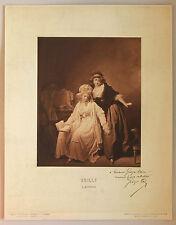 BRAUN Reproduction au charbon du tableau L'Effroi de Boilly, 1900