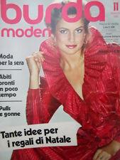 BURDA Moden n°11 1981  - con cartamodelli  [M9]