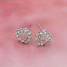 18K White Gold Filled Clear CZ Stud Earrings (E-145)