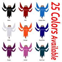 TMS Chiffon 8 Petal Skirt Belly Dance Panel Costume Gypsy Tribal Club 25 Colors