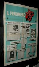 Original SUPER FLY Italian 39x55 Rare Newspaper Clipping Style