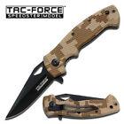 Tac Force TF-765DM  Speedster Linerlock Black Desert Camo Handle New