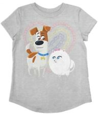 Secret Life of Pets Girls' Jumping Beans Graphic Tee Gray Size 12 - Brand New