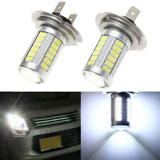 2X H7 33 SMD 5630 LED 800LM 6000K White Fog Headlight Auto Lights Bulbs Repair