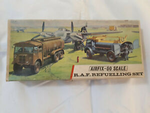 Airfix R.A.F. refuelling set OO scale box and some random parts lot.