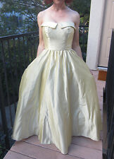 Vintage Strapless Yellow Ball Gown Formal Dress - Beauty & The Beast BELLE