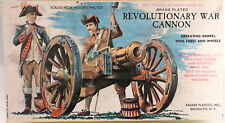 ARMY : REVOLUTIONY WAR CANNON MODEL KIT MADE BY PALMER PLASTICS IN IN THE USA