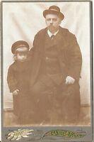 CAB photo Feiner Herr mit kleinem Kind - Österreich 1900er
