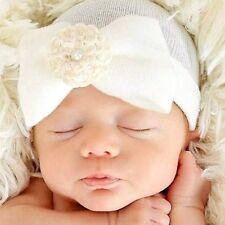 Cute Newborn Baby Infant Girl Toddler Soft Comfy Bowknot Hospital Cap Beanie Hat