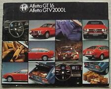 ALFA ROMEO ALFETTA GT 1.6 & GTV 2000 L Sales Brochure July 1979 GERMAN #7971026D