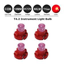 4 x Red T4/ T4.2 NEO WEDGE LED GLOBES SMD LED INSTRUMENT DASH CLUSTER BULB 12V