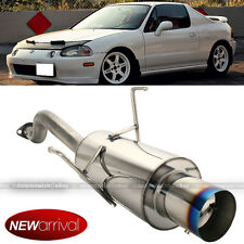 Fit 93-97 Honda Del Sol Stainless Bolt On Axle back Exhaust Muffler Blue Tip