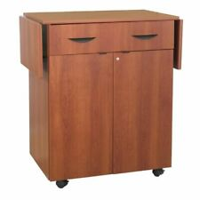 Safco 1 Drawer Hospitality Service Cart in Cherry