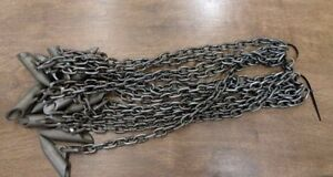 12 (1 DOZEN) SUPER STAKES WITH CHAIN TRAPPING EARTH ANCHOR HEAVY DUTY
